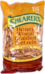 Shearer's Honey Wheat Braided Pretzels
