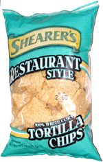 Shearer's Restaurant Style 100% White Corn Tortilla Chips