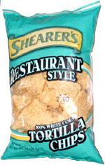 Shearer's Restaurant Style 100% White Corn Tortilla Chips