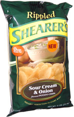 Shearer's Rippled Sour Cream & Onion Potato Chips