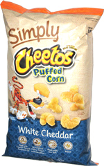 Simply Cheetos Puffed Corn White Cheddar