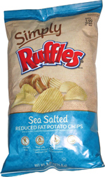 Simply Ruffles Sea Salted Reduced Fat Potato Chips