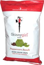 Skinnygirl Snacks Peppercorn Ranch Baked Veggie Chips