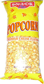 Snack Plus Cheddar Cheese Flavor Popcorn