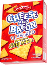 SnackRite Cheese and Bacon Flavored Baked! Not Fried! Crisp Snacks