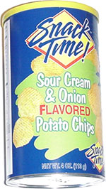 Snack Time! Sour Cream & Onion Flavored Potato Chips