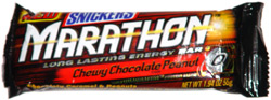 Snickers Marathon Long Lasting Energy Bar Chewy Chocolate Peanut