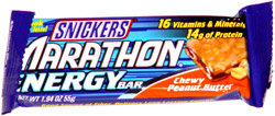 Snickers Marathon Energy Bar Chewy Peanut Butter