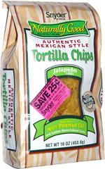Snyder of Berlin Naturally Good Authentic Mexican Style Tortilla Chips Jalapeno