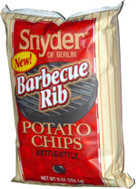 Snyder of Berlin Barbecue Rib Potato Chips Kettle-Style