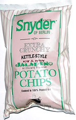 Snyder of Berlin Extra Crunchy Kettle-Style Hot & Spicy Jalape�o Potato Chips