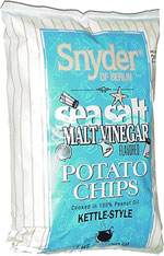 Snyder of Berlin Sea Salt & Malt Vinegar Kettle Cooked Potato Chips