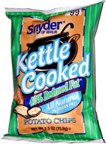 Snyder of Berlin Kettle Cooked 40% Reduced Fat Potato Chips