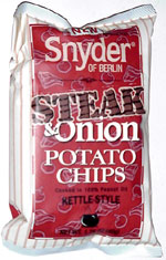 Snyder of Berlin Extra Crunchy Kettle-Style Steak & Onion Potato Chips