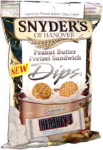 Snyder's of Hanover Peanut Butter Pretzel Sandwich Dips Dipped in Hershey's White Crème