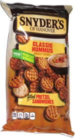 Snyder's of Hanover Classic Hummus Filled Pretzel Sandwiches