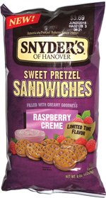 Snyder's of Hanover Sweet Pretzel Sandwiches Raspberry Creme