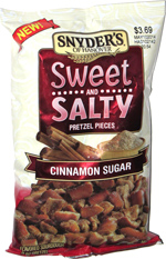 Snyder's of Hanover Sweet and Salty Pretzel Pieces Cinnamon Sugar