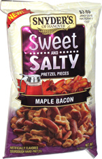 Snyder's of Hanover Sweet and Salty Pretzel Pieces Maple Bacon