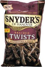 Snyder's of Hanover Braided Twists Pumpernickel & Onion