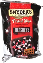 Snyder's of Hanover Pretzel Dips Peppermint Pretzel Snaps Made with Hershey's Special Dark