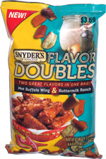 Snyder's of Hanover Flavor Doubles Hot Buffalo Wing & Buttermilk Ranch