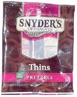 Snyder's of Hanover Thins Fat Free Pretzels