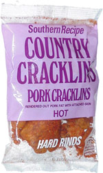 Southern Recipe Country Cracklins Pork Cracklins Hot Hard Rinds