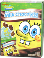 SpongeBob SquarePants Mini Milk Chocolate Snacks