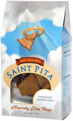 Saint Pita Parmesan Peppercorn Heavenly Pita Chips
