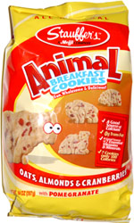 Stauffer's Animal Breakfast Cookies Oats, Almonds & Cranberries