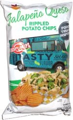 Food Truck Inspired Jalapeño Queso Ripples Potato Chips