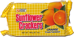 Sunflower Crackers Orange Cream Sandwich