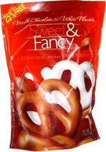 Sweet & Fancy Milk Chocolate & White Chocolate Coated Mini Pretzels