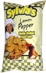 Sylvia's Lemon Pepper Kettle Cooked Potato Chips