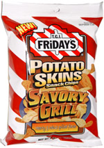 T.G.I. Friday's Potato Skins Snack Chips Savory Grill