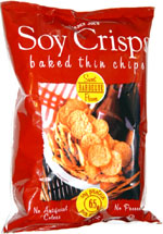 Trader Joe's Soy Crisps Baked Thin Chips Sweet Barbeque Flavor