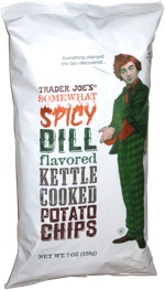 Trader Joe's Somewhat Spicy Dill Flavored Kettle Cooked Potato Chips