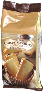 Trader Joe's Crispy Cookies filled with Belgian Chocolate