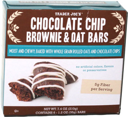 Trader Joe's Chocolate Chip Brownie & Oat Bars