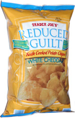 Trader Joe's Reduced Guilt Kettle Cooked Potato Chips White Cheddar
