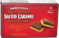 Trader Jacques' Milk Chocolate Salted Caramel Butter Cookies