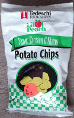 Tedeschi Li'l Peach Sour Cream & Onion Potato Chips