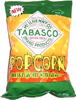 Tabasco Popcorn (Cheese flavored with Tabasco)