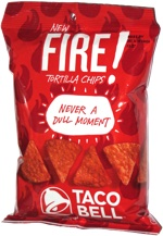 Taco Bell Fire! Tortilla Chips