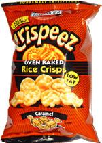 Tastemorr Crispeez Oven Baked Rice Crisps Caramel