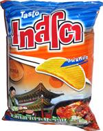 Tasto Kimchi Hot Plate Flavored Potato Chips Ridge Cut