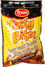 Tyson Tasty Bites Tender Smoked Chicken Snack Original Rotisserie Flavor