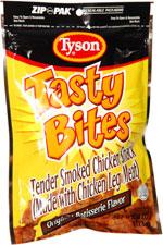 Tyson Tasty Bites Tender Smoked Chicken Snack Original Rotisserie Flavor