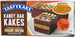 Tastykake Kandy Bar Kakes made with Reese's Peanut Butter